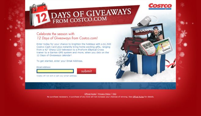 12 Days of Giveaways from Costco.com