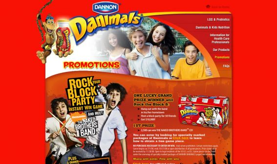 Naked Brothers Band Rock Your Block Party Instant Win Game