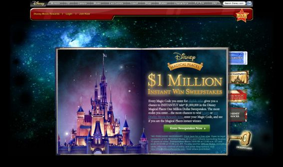 Disney Magical Places One Million Dollar Sweepstakes