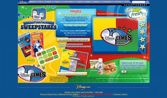 Disney Channel Training With The Stars Sweepstakes