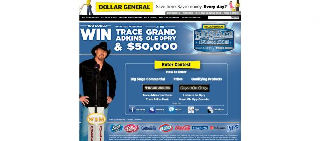 Dollar General Big Stage Sweepstakes