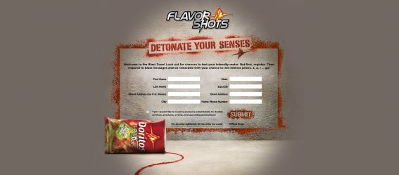 Doritos Flavor Shots Sweepstakes
