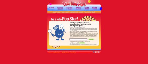 Spangler Candy Pop Star Sweepstakes