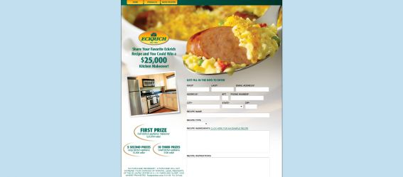 ECKRICH $25,000 Kitchen Makeover Sweepstakes
