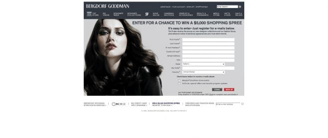 BergdorfGoodman.com $5,000 Shopping Spree Sweepstakes