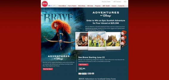 AMC Theatres Brave Adventure to Scotland Sweepstakes