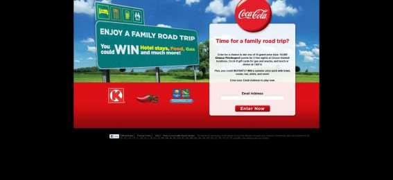 cocacolaroadtrip.com – Coca-Cola Circle K Family Road Trip Instant Win & Sweepstakes
