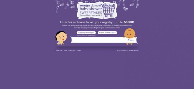 "ultimateshowersweeps.com – Babies ""R"" Us Ultimate Baby Shower Sweepstakes and Instant Win"
