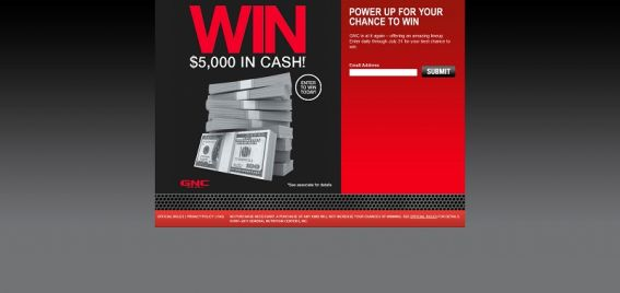 GNC Sweepstakes