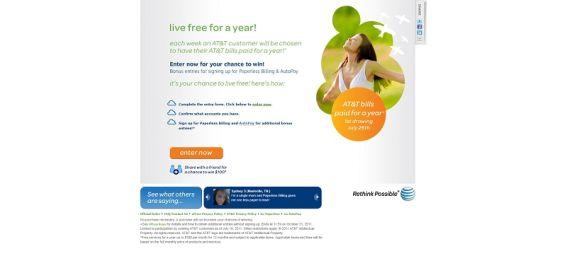live.att.com – Live Free for a Year