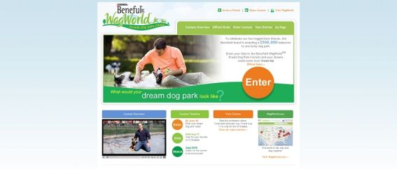 benefuldreamdogpark.com – Beneful WagWorld Dream Dog Park Contest
