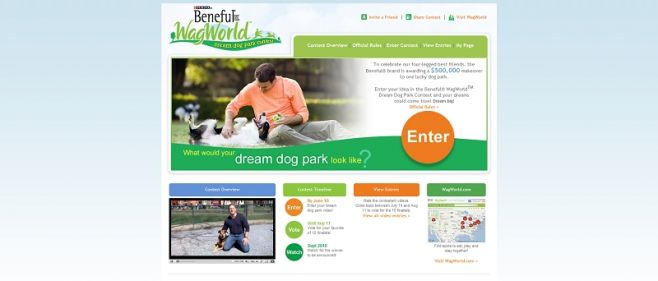 benefuldreamdogpark.com – Beneful WagWorld Dream Dog Park Contest