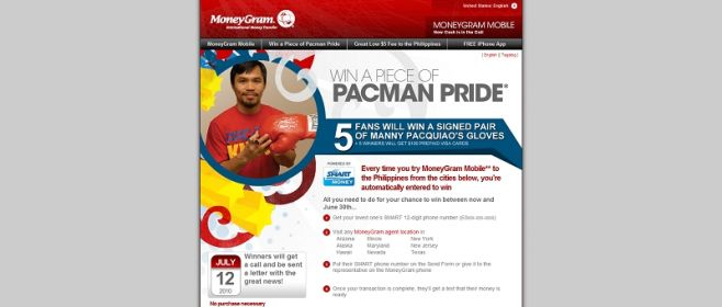 MoneyGram Boxing Pride Sweepstakes