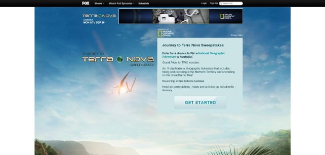 Journey to Terra Nova Sweepstakes