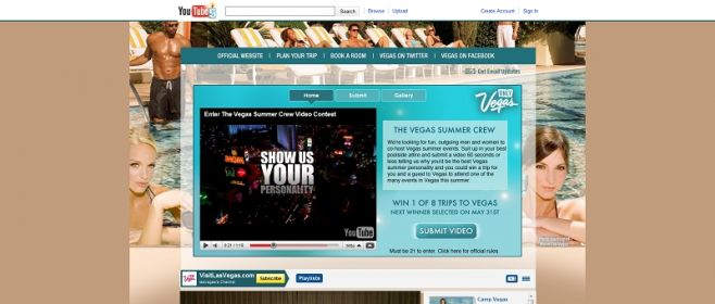 youtube.com/lasvegas – Vegas Summer Crew Promotion