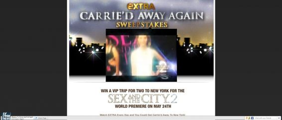 Carrie&#8217;d Away Again Sweepstakes