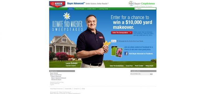 Bayer Advanced Ultimate Yard Makeover Sweepstakes