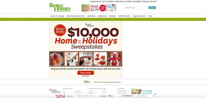 Home for the Holidays Sweepstakes