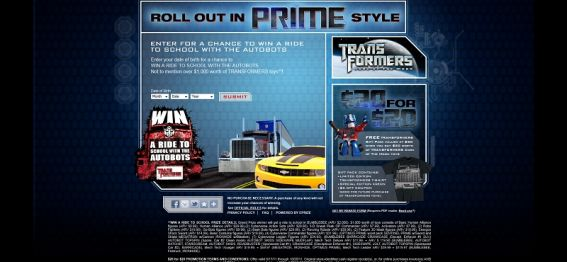 TransformersPrimeStyle.com &#8211; Win a Ride to School with the AutoBots