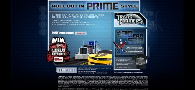 TransformersPrimeStyle.com – Win a Ride to School with the AutoBots