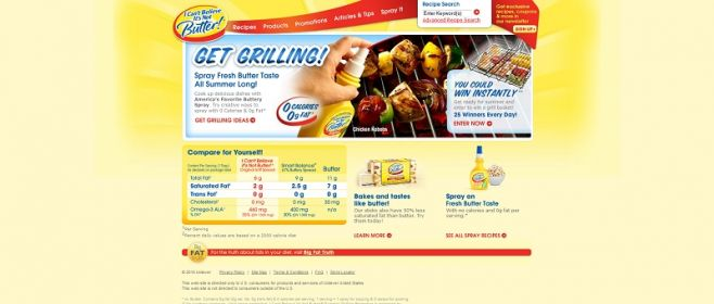 icantbelieveitsnotbutter.com – I Can't Believe It's Not Butter! Summer Grilling Promotion