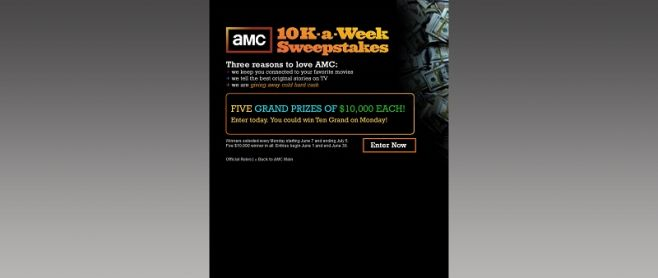 amcmoney.com – AMC's 10K A Week Giveaway Sweepstakes