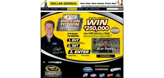 Dollar General Race in to Win Sweepstakes