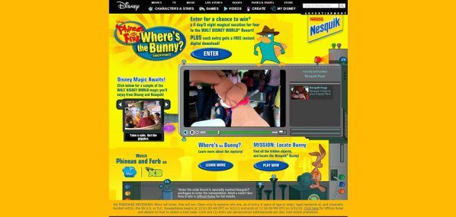 Disney.com/WheresTheBunny – Disney Phineas and Ferb Where's the Bunny Sweepstakes