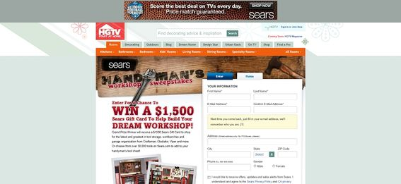 Sears Handyman Workshop Sweepstakes