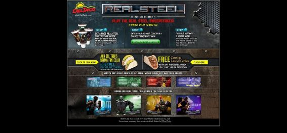 deltaco.com/realsteelsweepstakes – Del Taco/Real Steel Sweepstakes