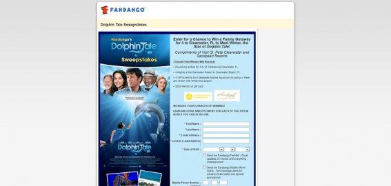 Fandango's Dolphin Tale Sweepstakes