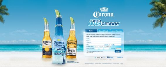 coronabeachgetaway.com – Corona Beach Getaway Sweepstakes