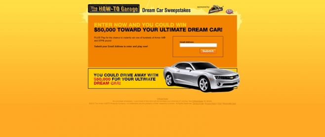 Armor All Dream Car Sweepstakes