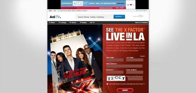 AOL's The X-FactorTM Sweepstakes