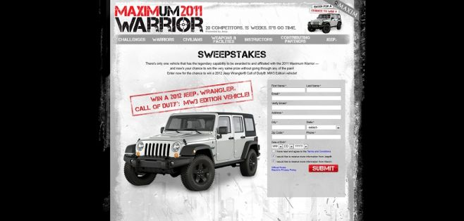 Maximum Warrior 2011 Sweepstakes