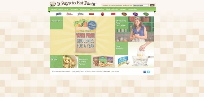 itpaystoeatpasta.com – It Pays to Eat Pasta Sweepstakes