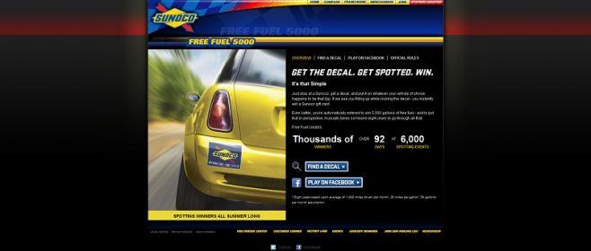 gosunoco.com/freefuel5000 – Sunoco Free Fuel 5000 Sweepstakes