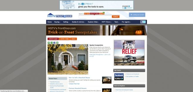 FrontDoor.com's Trick-or-Treat Sweepstakes