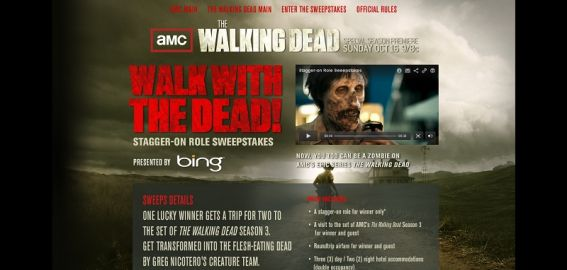 thewalkingdeadsweepstakes.com – AMC The Walking Dead Stagger-on Role Sweepstakes