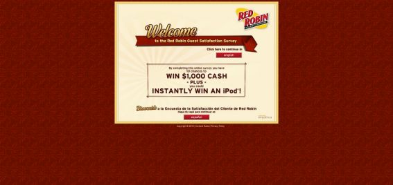 tellredrobin.com – Red Robin Guest Satisfaction Survey