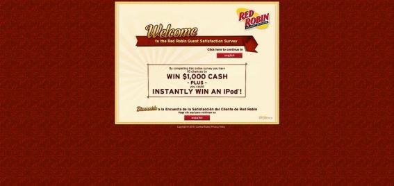 tellredrobin.com – Red Robin Guest Satisfaction Survey