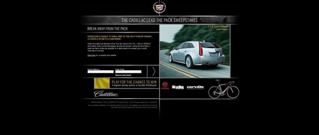 Cadillac Lead the Pack Sweepstakes