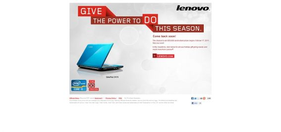 Lenovo $50,000 Sweepstakes and Instant Win Game