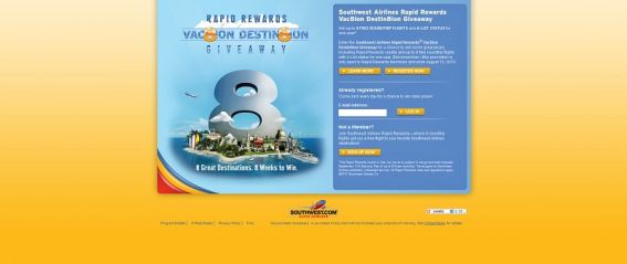 Southwest Airlines Rapid Rewards Vac8ion Destin8ion Giveaway