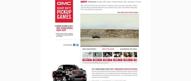 GMC Heavy Duty Pickup Games Sweepstakes