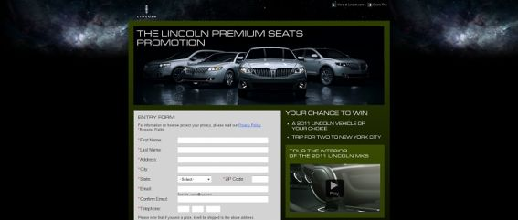 lincoln.com/premiumseats – Lincoln Premium Seats Sweepstakes