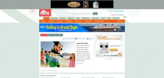 HGTV's Sailing in Grand Style Sweepstakes
