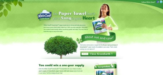 White Cloud GreenEarth Sweepstakes