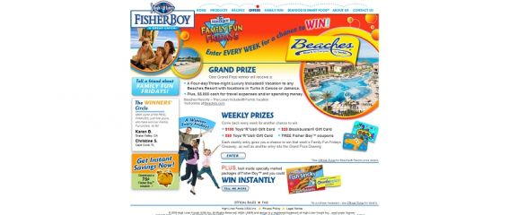fisherboy.com &#8211; Fisher Boy FAMILY FUN FRIDAYS Sweepstakes
