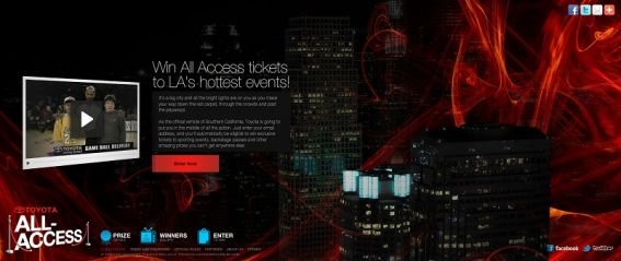 toyotaallaccess.com – Toyota All Access Sweepstakes